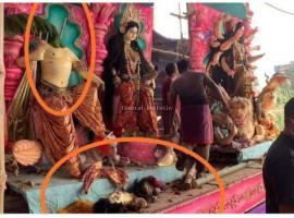 ದುರ್ಗಾ ಪೂಜಾ ಸಮಯದಲ್ಲಿ ಕೋಮು ಗಲಭೆ ಮೂವರ ಸಾವು ಹಲವರಿಗೆ ಗಾಯ.
